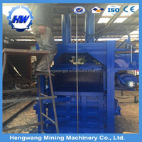 Wood packaging material and new condition baler machine for used clothing