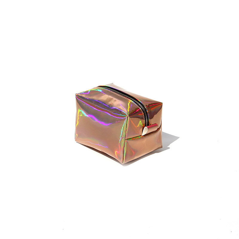 Fashion Women's Multicolor PU Leather Cosmetic Bags Travel Cosmetic Organizer lattice Makeup Bag