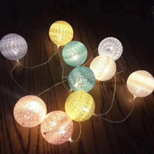 Indoor And Ourdoor Fashion Christmas Ball Garland Magic Hanging Led Ball Holiday Light