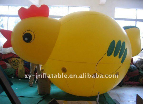 Outdoor customized helium advertising inflatable chicken for sale