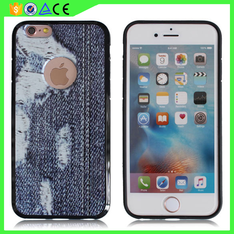 2017 New design Thickness 2mm Shockproof Armor case printing Jeans cell phone case for iphone 7 case TPU