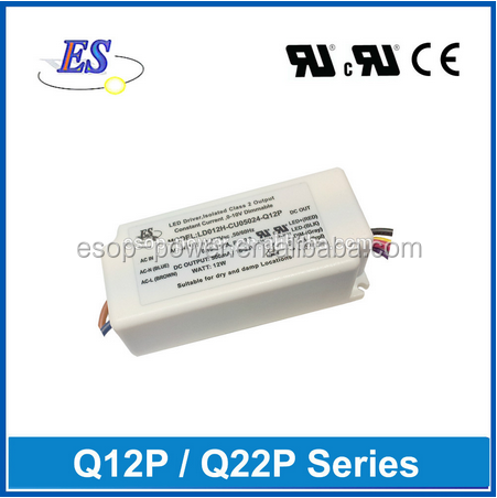 ES 12W 54V 220mA AC to DC full input voltage and single output switching mode power supply with UL CUL CE