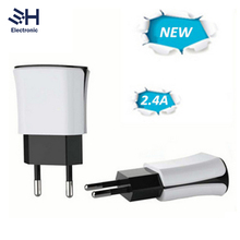 New Product mobile phone accessory 5V 2.4A Dual USB Wall Travel Charger For iphone samsung Cool Adapter
