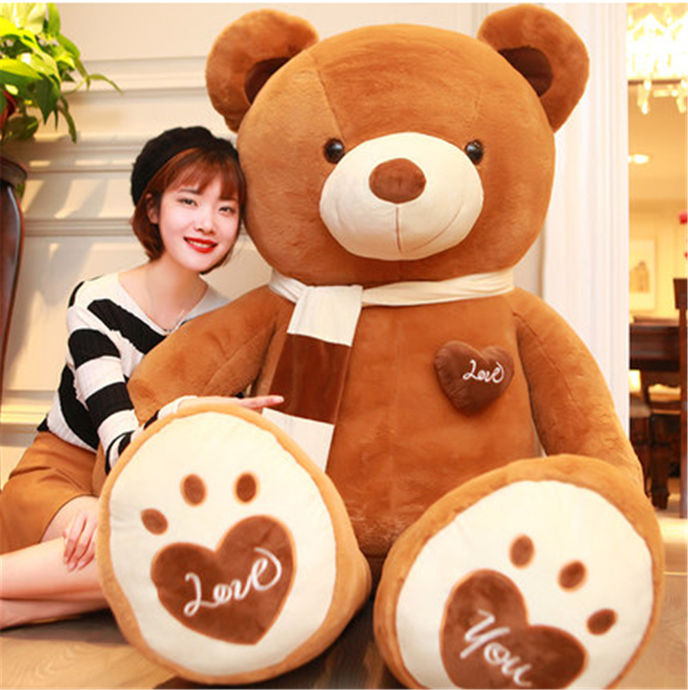 Fancytrader Huge Giant Love Teddy Bears Plush Toys Gifts for Girls Soft Big Stuffed Bears Doll Christmas New Year Valentine's Day Gifts 3