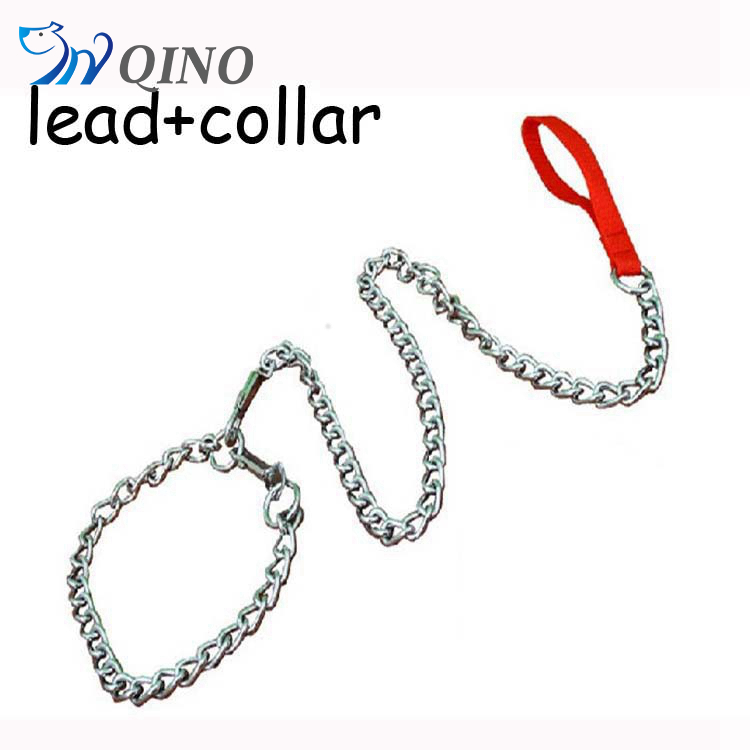 QN-A-2391 dog chain leads collar & leash type pet dog collar