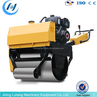 800KG power 13hp CE certificate Double drums remote control road roller price - LUHENG