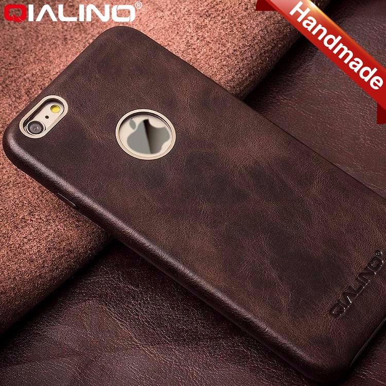 QIALINO Pure Handmade Premium Leather Mobile Phone Case For Iphone 6 6S Accessories