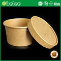 Paper soup container hot food paper soup cup with vented paper lid