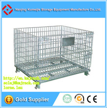 Industrial Wire Basket Metal Storage Cage
