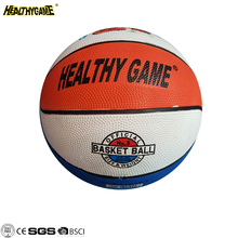 Cheap Custom Printed Logo Colorful Rubber Basketball