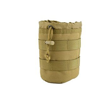 Tactical Coyote Bottle Pouch 2.0  MOLLE Drawstring Open Top