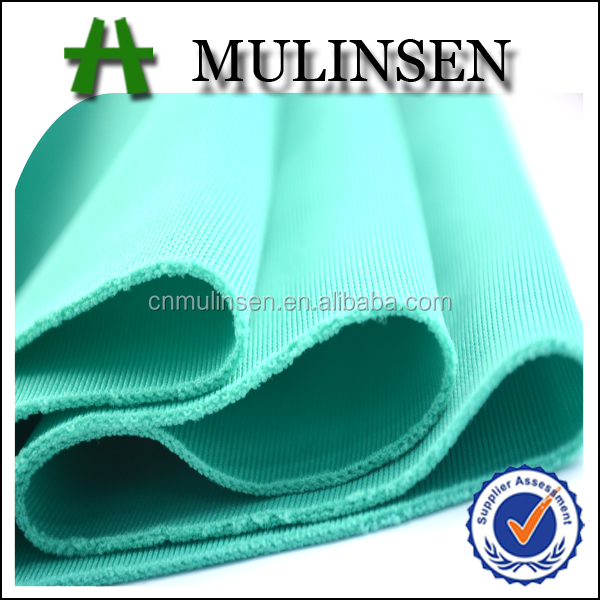 Mulinsen Textile Knitting Polyester Plain Dyed Scuba Sport Wear Gym Fabric