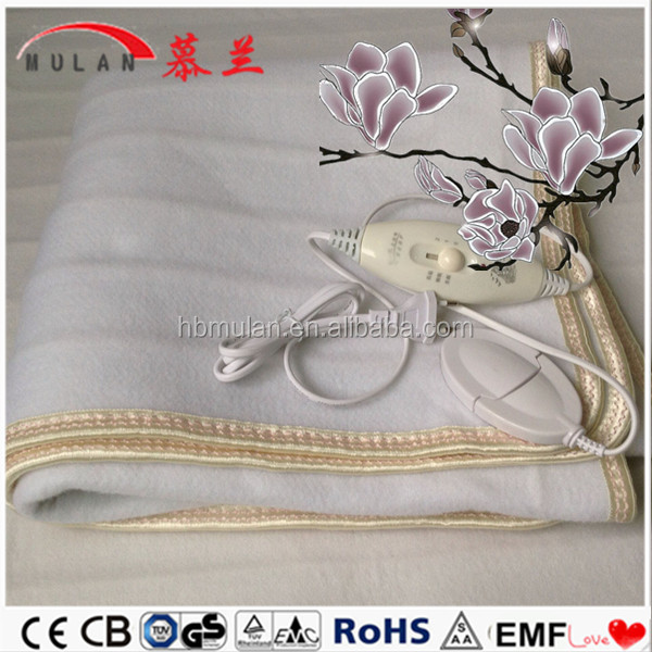 Portable 100% Polyester Electric Blanket