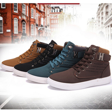New Fashion Casual Men High Cut Canvas Shoes Sneakers Sports Shoes