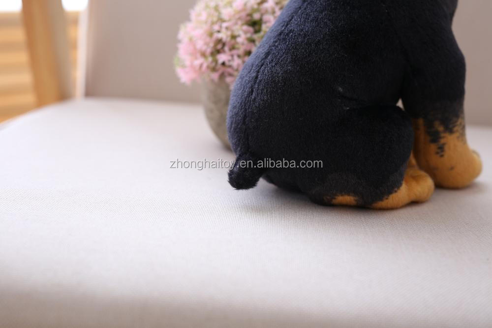 plush toy dog/kipper the dog plush soft toy/Plush Stuffed Black Dog Toy