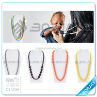 Silicone Gift Party baby teether Silicone doll pendant necklace for men women