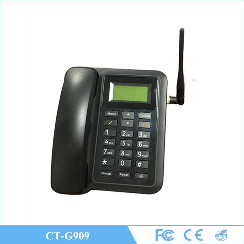 4G GSM desktop quad cordless phones caller name ID with answer machine