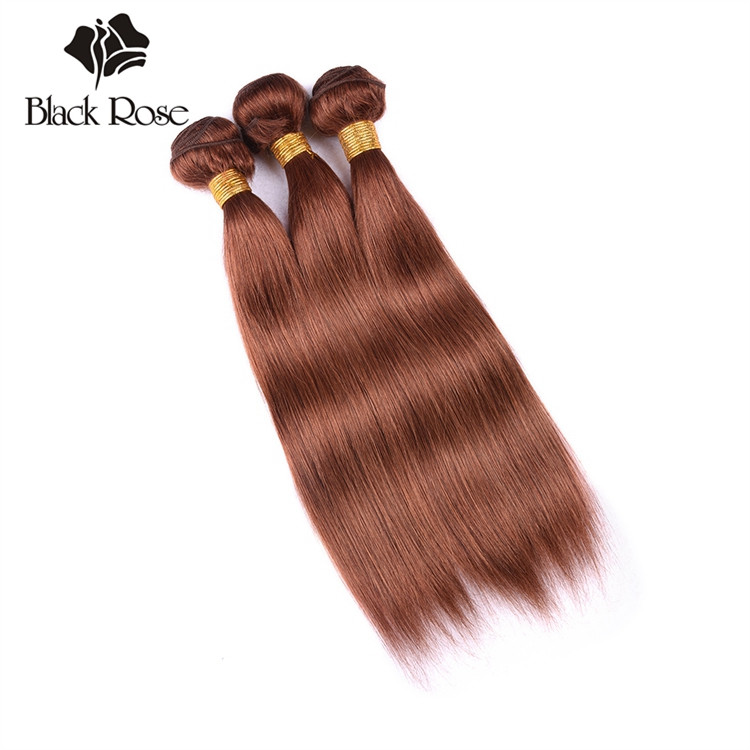 Color 30# 10-24 inches 7a Straight Wave Latest Hair Weaves in Kenya