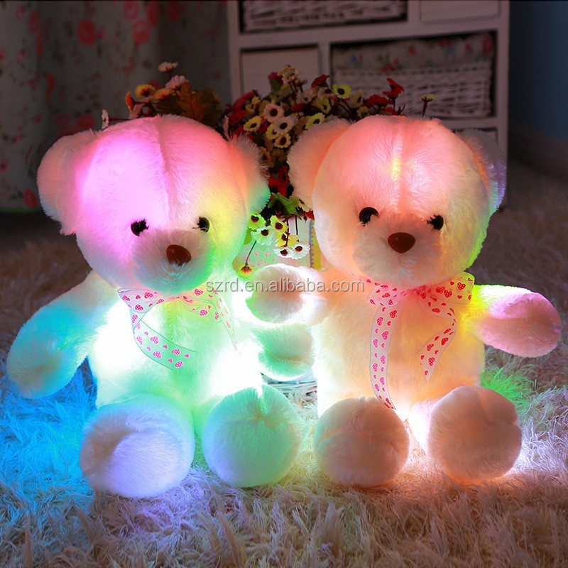 Teddy bear LED Plush Toys/56 cm ganit plush toys/light night soft toys in high quality
