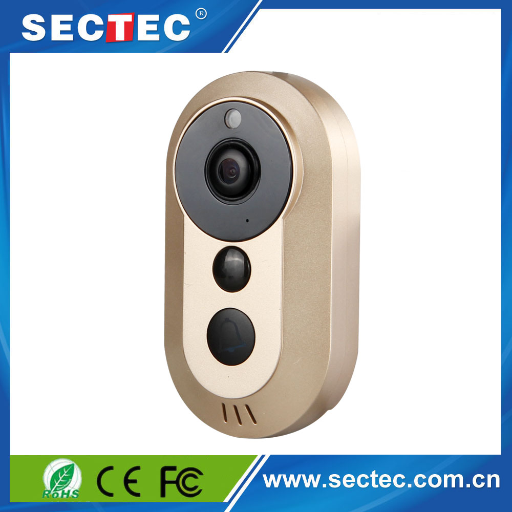 Sectec Hot 720P Single Streaming Smart Home Security System Newest Wifi Video Door Bell