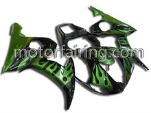 For yzf r6 03 05 good Quality ASB Motorcycle bodykits/Fairing Kit/bodywork green/black