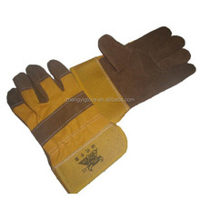 half palm gloves with rubberized cuff