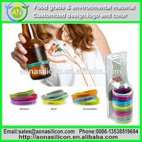 colorful silicone bottle bracelet for heat resistance and anti skidding and labelling
