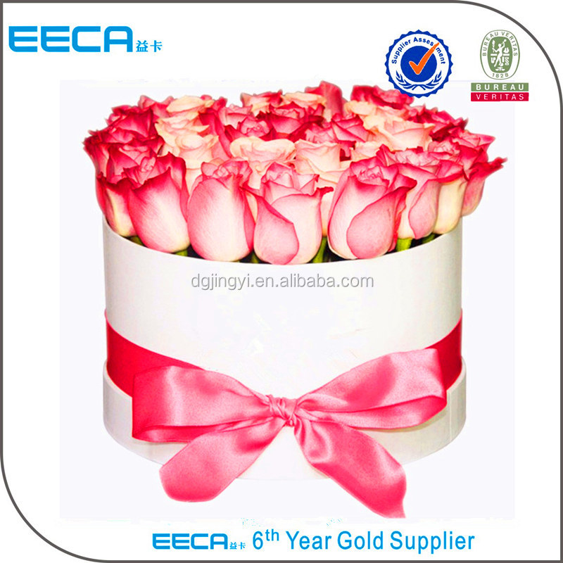 Hat boxes wholesale round flower paper gift box made in Dongguan