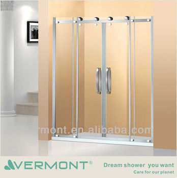 Simple sliding door shower screen