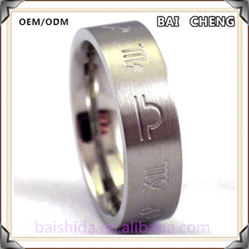 Original design Jewelry with Character stainless steel Bright Ring for men and women