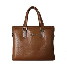 New fashion custom simple laptop genuine leather men briefcase at low price