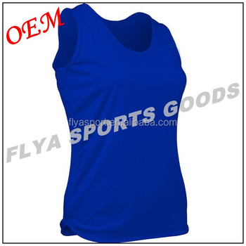 women custom logo sleeveless Gym t-shirts