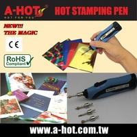 DIY DESIGN BATTERY HOT STAMPING FOIL PAPER PEN