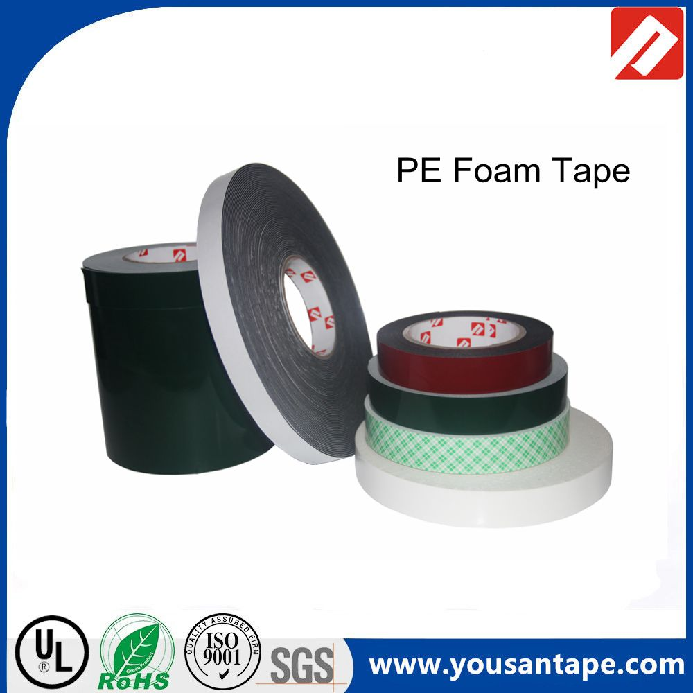 Double-sided White black PE Foam Tape Foam Tape replace 3M PE Foam