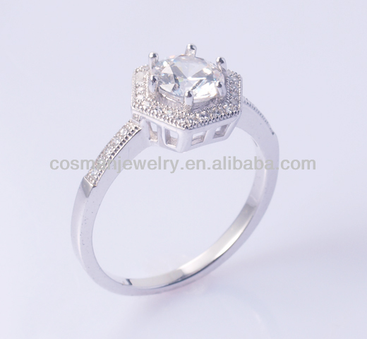 Fashion silver poison CZ ring