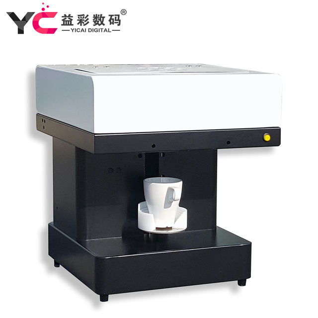 New cheap four cups coffee printing machine for cakes flowers from factory for sale
