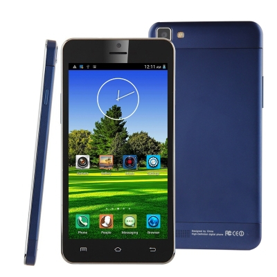 Original Haipai x3sw 4GB Blue, Android 4.2.2 MT6582 1.3GHz Quad Core, RAM: 1GB, 5.0 inch 3G Smart Phone, Dual SIM, WCDMA & GSM
