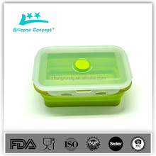 Dishwasher microwave safe waterproof silicone food storage container