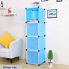 Novel stylish diy plastic slim storage cabinet with room divided FH-AL0017-4