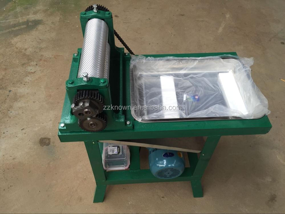 Popular sale beeswax flat pressing machine with 86*450 mm roller size