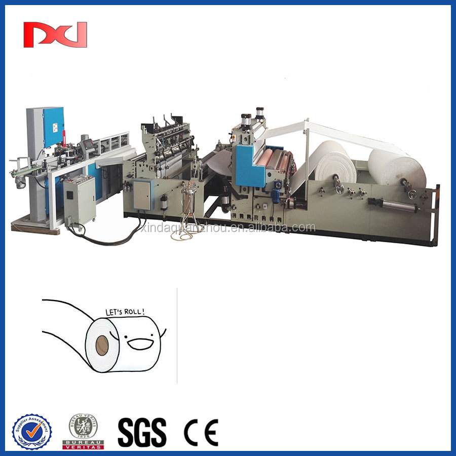 Glue Lamination Small Toilet Paper printing cutting Machine for sale with Automatic Band Saw Cutting Machine