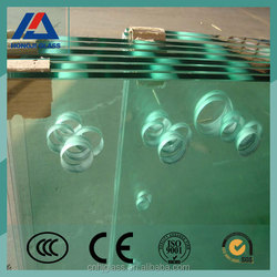 square round shape cut glass with hole clear glass tempered glass cutting boards