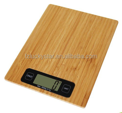 High quanlity Digital Bamboo Kitchen scale