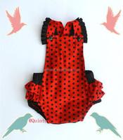 Baby Clothes Romper Polka Dots Ruffle Design Bodysuit Girl Romper China Yiwu