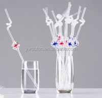 cool creative art kid funny windmill plastic drinking straw party decorative straws