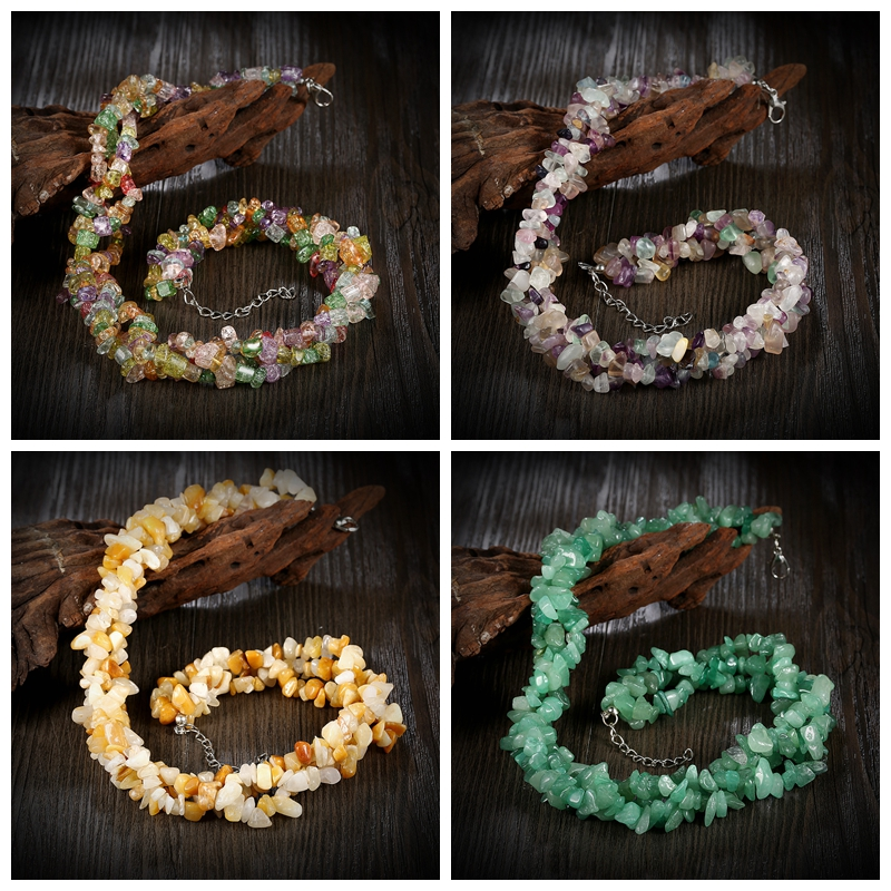 New multicolor necklace natural stone jewelry