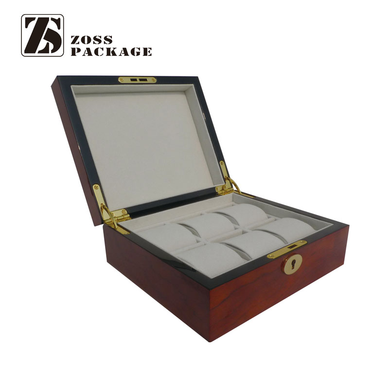 High quality 8 slot wooden watch collection box for display