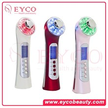 Home Use Photon Led Light Therapy Electro Anti Wrinkle Portable Ultrasonic Facial Beauty Device Machine