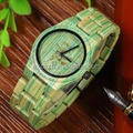 Colorful Bamboo Watch For Summer Eco Friendly Bamboo Wood Watch
