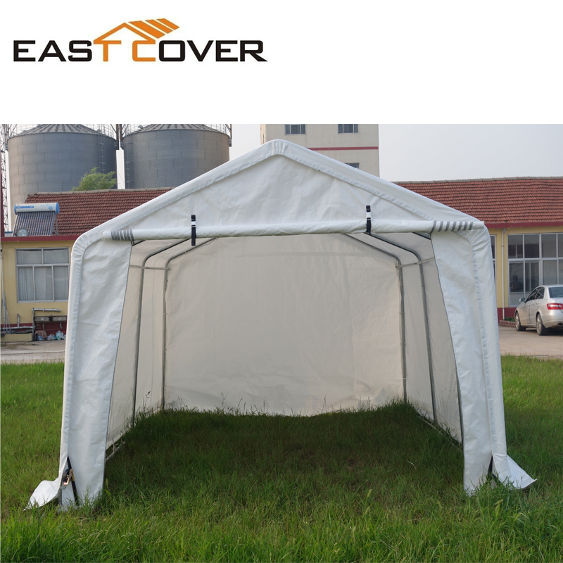 W10'xL15' outdoor metal frame car canopy